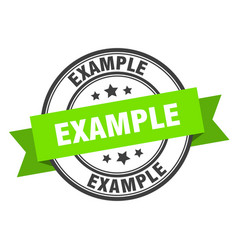 Example label example green band sign example vector