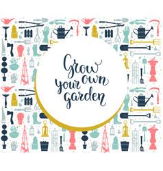 Garden your card vector