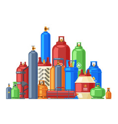 Gas cylinder storage propane butane or helium vector