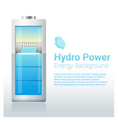 green energy concept background with hydro energy vector image