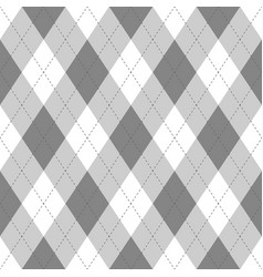 Grey argyle seamless pattern backgrounddiamond vector