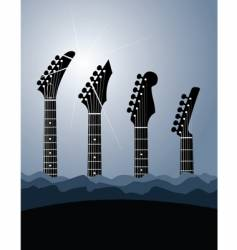 guitar stock background vector image