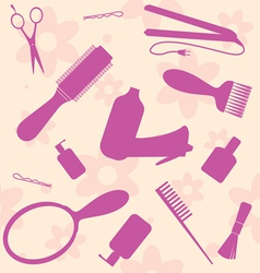 hair dressers tools vector image