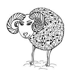 hand drawn abstract sheep vector image