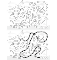 Hang gliding maze vector