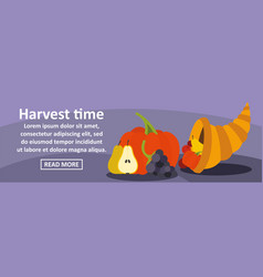 harvest time banner horizontal concept vector image