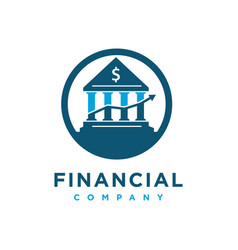 Home financial logo design template vector