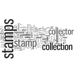 Important facts for the stamp collector vector
