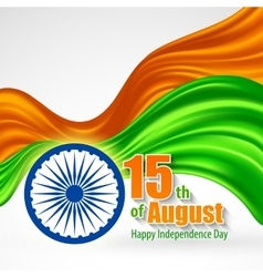 Independence Day India background Template for a vector image