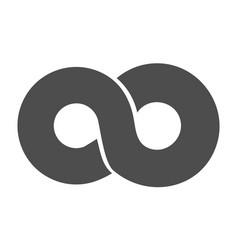 infinity symbol loop figure 8 icon eternity logo vector image