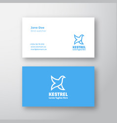 kestrel bird abstract logo and business vector image