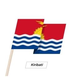 Kiribati Ribbon Waving Flag Isolated on White vector