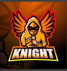 Knight mascot esport logo design vector