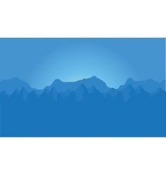 Landscape of blue mountains vector