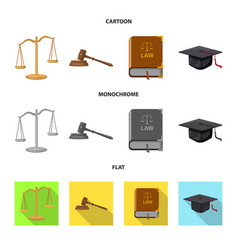 law and lawyer symbol vector image