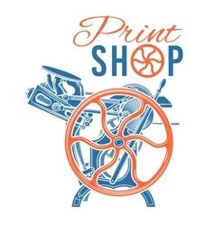Letterpress print shop vector