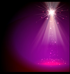 light special effect star and beams magenta color vector image