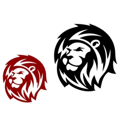 Lion heads vector