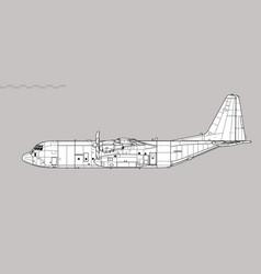 lockheed martin c-130j-30 super hercules vector image