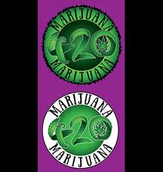 Marijuana leaf symbol 420 hemp text vector image