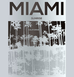 Miami - concept in vintage graphic style for vector