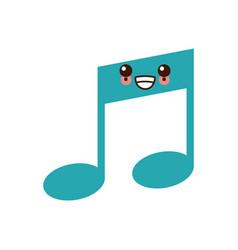 Music note symbol kawaii cute cartoon vector