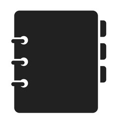 notebook icon small book for writing notes vector image