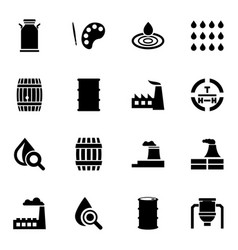 oil icons vector image