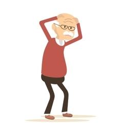 Old Man Sick Headache vector image