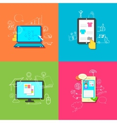 Online Technology vector image