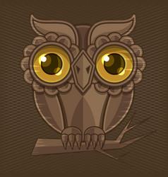 owl hand drawn vector image