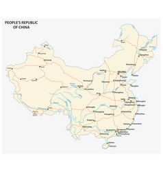 people s republic of china road map vector image