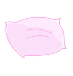 Pink pillow isolated vector