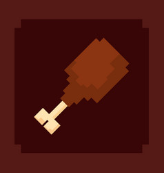 Pixelated and videogame design icon vector