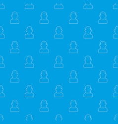 priest pattern seamless blue vector image