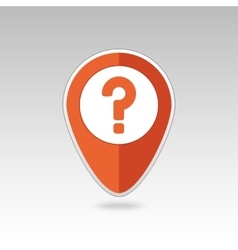 Question mark pin map icon map pointer markers vector