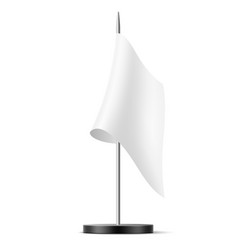 realistic table flag blank mock up vector image