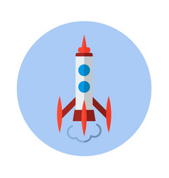 Rocket flat icon rocket icon b vector