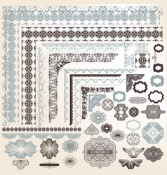 Set of elements for certificate designs vector