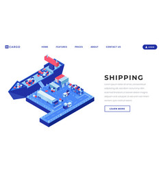 shipping business landing page template vector image
