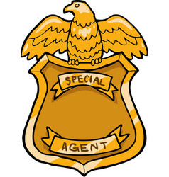 special agent badge vector image