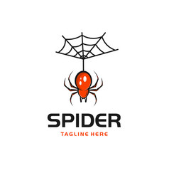 Spider insect abstract modern logo vector