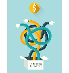 Startups vector image vector image
