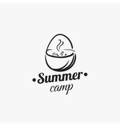 Summer Camp Badge vector image