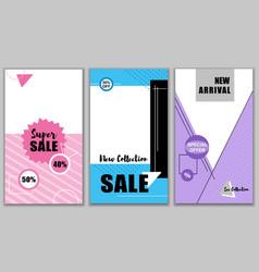 super sale new 40 50 percent collection set vector image