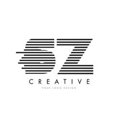sz s z zebra letter logo design with black and vector image