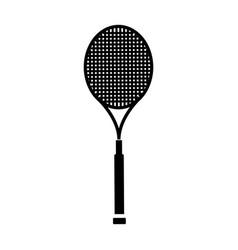 Tennis racket isolated icon vector