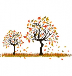 tree autumn background vector image