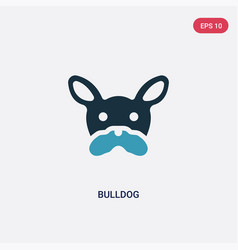 two color bulldog icon from animals concept vector image