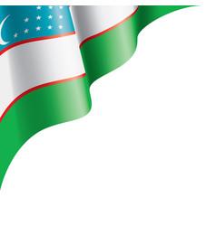 Uzbekistan flag on a white vector